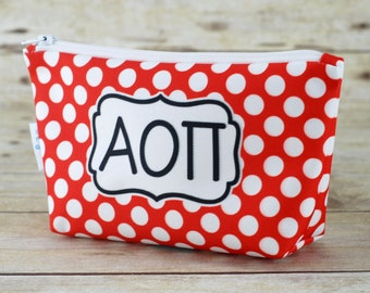 Alpha Omicron Pi | AOPi | AOII | AOΠ Sorority Make Up Bag