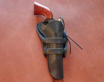 Western Gun Leather Heritage Rough Rider Side Draw Holster Single Action SAA SASS