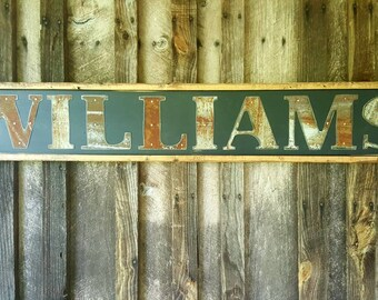 Custom Name Sign*Family Name Sign*Metal Letter Sign* Custom Wedding Sign*Sign*Rustic Wood Name Sign*Personalized Sign*Monogrammed Wood Sign
