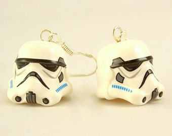 Stormtrooper® Helmet Earrings - Sterling Silver .925 Hooks *LIMITED* Crafted From LEGO® Elements