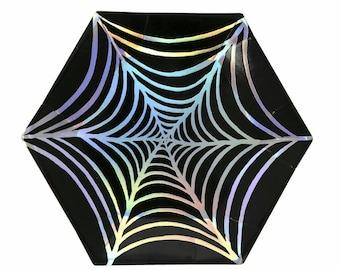 Meri Meri. Meri Meri Halloween. Halloween. Halloween Party. Halloween Plates. Halloween Decor. Party Decor. Meri Meri Plates. Spider Web