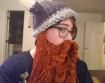Knit viking hat