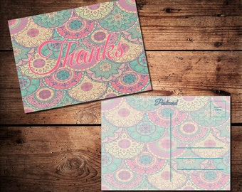 Thank You Postcard (printable)