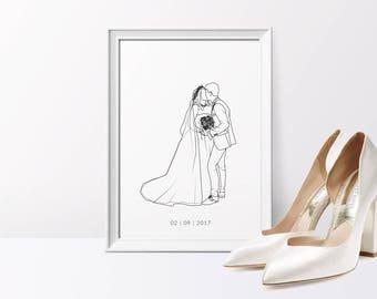 Bespoke illustration line drawing, A4/A5  Print