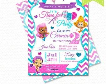 Items similar to Bubble Guppies Invitation Bubble Guppies Birthday