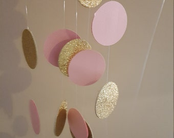 pink and gold garland * pink and gold first birthday * pink and gold backdrop * pink gold nursery decor * princess birthday * princess theme