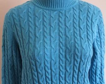 Croft & Barrow size petite PXL t-neck sweater, 100% cotton like new condition