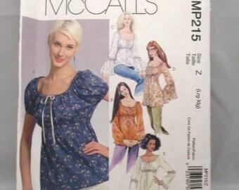 McCalls 215 Misses Boho Tops and Tunics Size Large and XLarge UNCUT