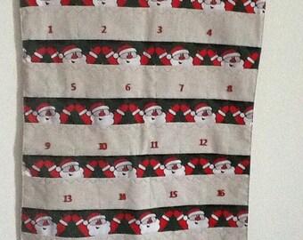 Christmas Advent, Advent calendar, Father Christmas Advent calendar, Advent treat pockets. 24 days of Christmas Personalised advent calendar