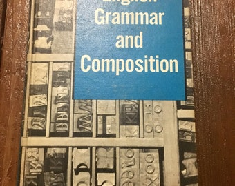 Midcentury english school textbook grammar mcm book with illustrations