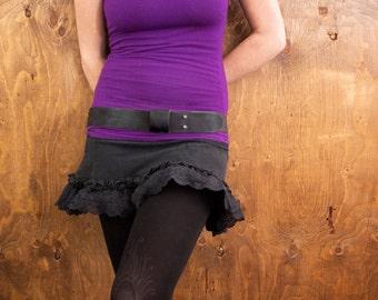 The Everyday Belt - Handmade Leather - Black