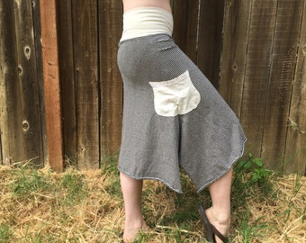 Forest Skirt/Hemp and Organic Cotton Stripes