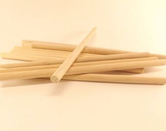 "25 ct Birch Wooden Dowel Rods 1/4"" x 6"""