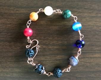 Chakra Balancing Link Bracelet