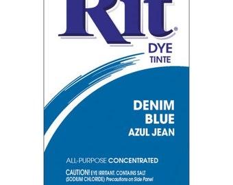 DENIM BLUE Rit Dye Fabric Dye Rit Dye Powder Fabric Dye