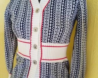 Vintage Pierre Cardin sweater cardigan