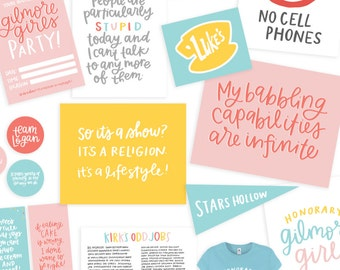 Gilmore Girls Party Printable Pack! | Gilmore Girls Quotes