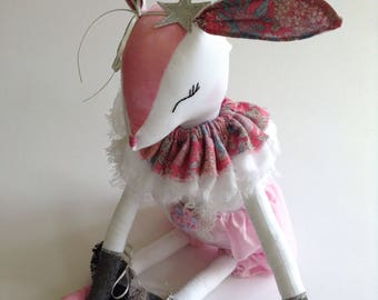 Bunny toy , handmade rabbit , rabbit toy , handmade doll , handmade bunny , cloth doll , doll , rabbit , bunny