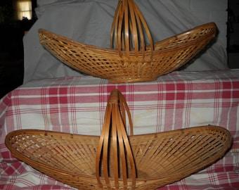 Vintage Canoe Shaped Baskets(2)