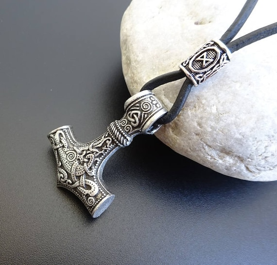 Mjolnir mjolnir necklace viking pendant viking necklace aloadofball Images