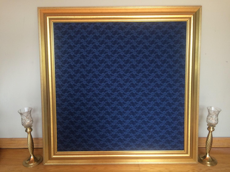 Elegant gold framed corkboard cork board pinboard bulletin zoom jeuxipadfo Gallery