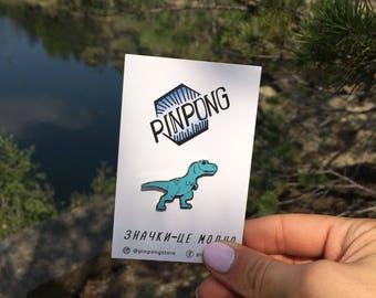 Dinosaur blue - Dinosaur - Lapel pin - Enamel pin - Animal pin - Funny pin - Pins - dino pin