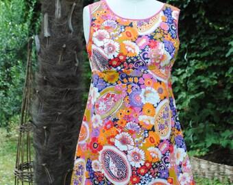 Flowery dress 1970