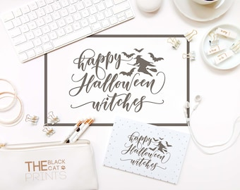 Happy Halloween Witches Svg File Funny Svg Design Halloween SVG Cutting  File Cricut Svg Cut File DXF Silhouette Cameo Files Bat Svg Sayings