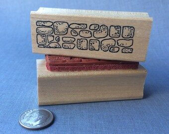 Stone Wall Rubber Stamp