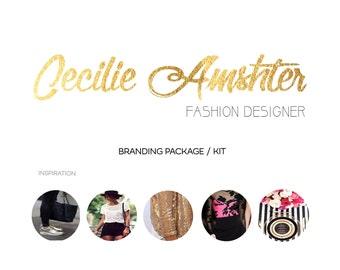 Branding package / Logo design and branding package / Branding kit / Marketing package / Marketing kit / Custom branding package / Gold logo