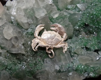 Retired & Rare-3-D Sterling-silver-James-Avery-CRAB-charm, pendant, Sterling Silver