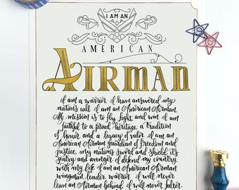 Airmans creed etsy add to added airmans creed altavistaventures Images