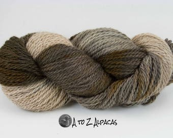 Royal Baby Alpaca Yarn Chunky Weight Hand Dyed OOAK Made in Canada Mocha on a Winter night