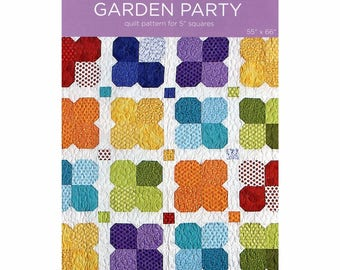 "Garden Party Quilt Pattern for 5"" Squares designed by Missouri Star Quilt Co., 55"" x 66"" finished size"