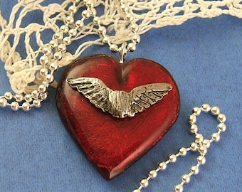Tanner's Heart Necklace on a Sterling Silver Chain (DR-033)