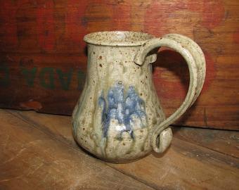 HandMade Coffee or Tea Mug. Stoneware Pottery Mug. Great for Hot Cocoa. Mother's Day Gift. Blue Ash Glaze. Ceramic Mug