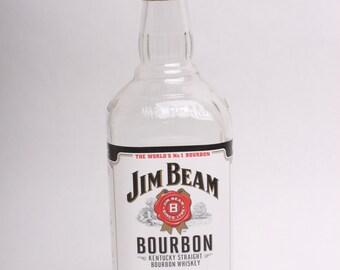 Empty Liquor Bottle --  Jim Bean Bourbon 750 ml