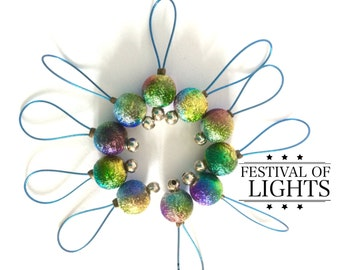 Stitch markers for knitting markers knitting gifts for her rainbow stitch markers snag free notions  -  FESTIVAL of LIGHTS