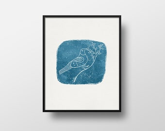 Bird Print, Vintage Illustration, 8x10 Print, 5x7 Print, Wall Hanging, Wall Art, Home Decor, Birthday Gift, Housewarming Gift, Dove Print