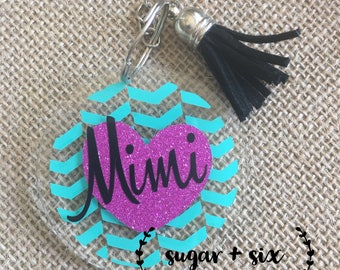 Personalized Acrylic Keychain -- Choose a Name!
