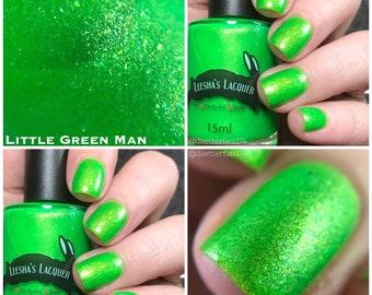 Cosmic Neons -Little Green Man- Green Neon Nail Polish, Neon Green Indie Nail Polish - 5-Free, Cruelty Free and Vegan Indie Nail Polish