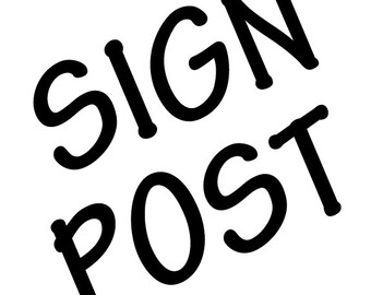 Sign Post.Add on post.business sign post.yard sign post.