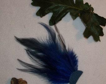 Blue Feather Fan- Incense Wafting Fan/ Smudge Fan for Magic Altars