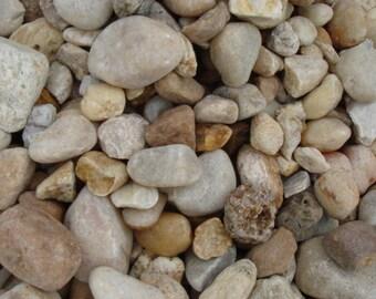 River Rock for crafts, terrariums, moss gardens, pixie gardens, fairy garden school projects, fossil collectors 5 lb lot