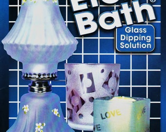 Etch Bath Glass Dipping Solution Book 1999 Glass Etching & Painting Instructions and Technique OOP Publication Holiday Gift Making