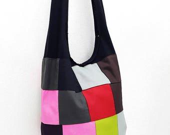 Women bag Handbags Thai Cotton Canvas bag Hippie bag Hobo bag Boho bag Patchwork bag Sling bag Shoulder bag Tote Crossbody bag Purse PWC16