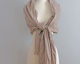 Linen Anniversary 12th Linen Gifts Wrap Shawl, 4th Anniversary Modern Anniversary Gift, Soft Linen Eco Friendly Scarf