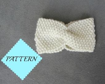 Seed Stitch Twisted Headband Pattern