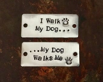Personalized Shoe Tags. Dog Lover. Gift for Dog Walker. Pet Sitter Gift. Furry Friend. I Walk My Dog...My Dog Walks Me. Animal Activist.
