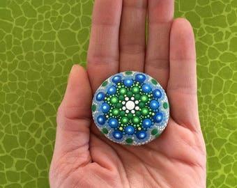Mandala Stone green-blue I